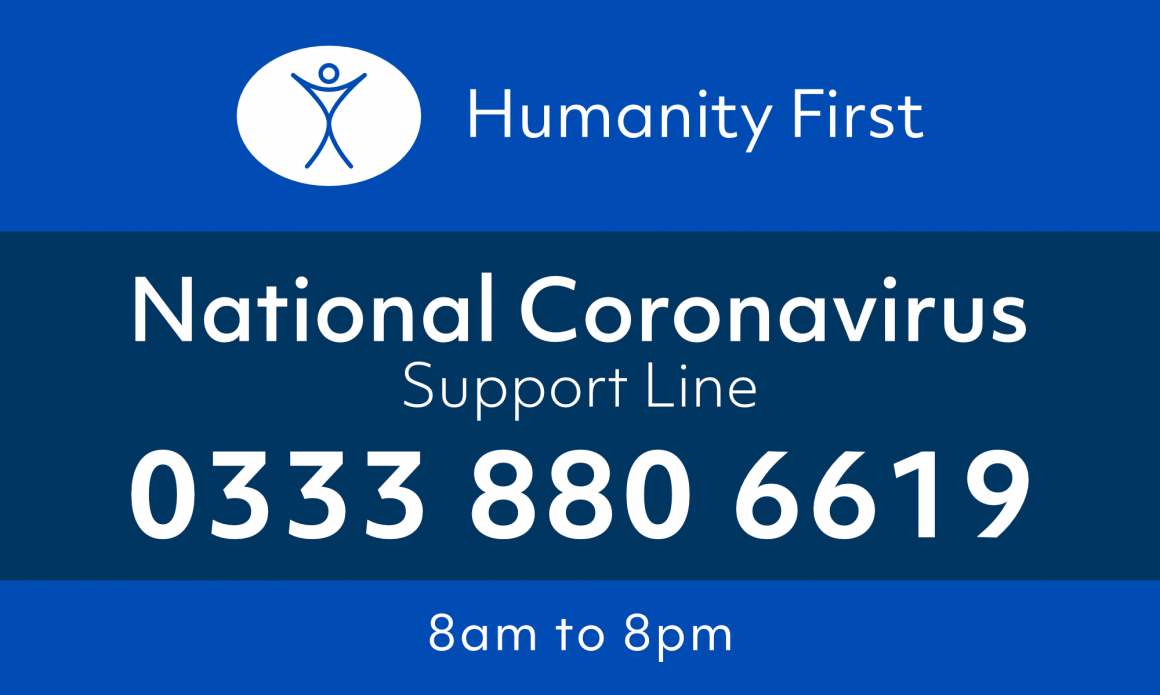 Humanity First UK launches its National Coronavirus Support Line