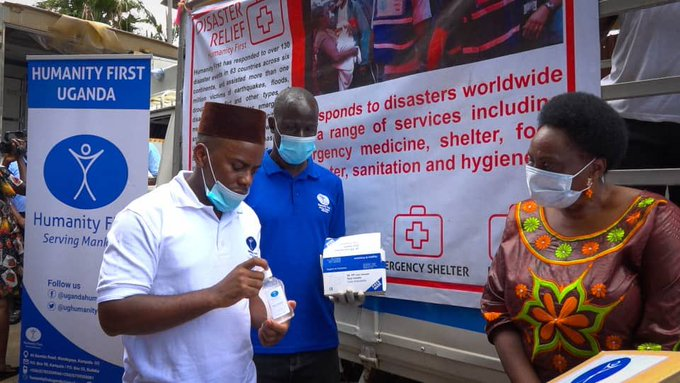 Disaster Relief Stand in Uganda